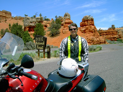 Red Canyon on Hwy. 12, Utah.  Some guy at the pull-out took my picture with my camera.